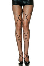 Women Stockings Diamond Net Accent Fishnet Pantyhose Sexy Hollow Out