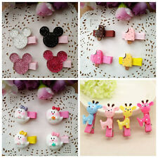 4pcs/lot Cute mickey/Deer Hair Accessories Kids Girls baby Hair Clips hairpins