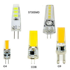 Dimmable G4 G9 LED Corn Bulb Silicone Crystal SMD/COB Lamp Light 12/24V 220/110V