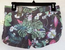 3235 Aeropostale Shorty Shorts Floral Drawstring Cotton Shorts SMALL