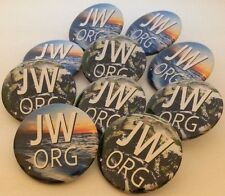 JW.ORG SET OF 10 Pinback Buttons or Fridge Magnets or Mirrors Jehovah Witness