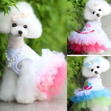 Summer NEW Pet Puppy Clothes Small Dog Cat Lace Skirt Tutu Dress Apparel Costume
