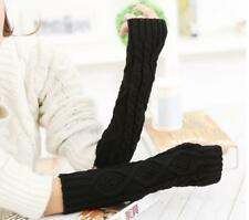 Fashion Women Men's Gloves Arm Warmer Long Fingerless knit Mitten Winter NEW