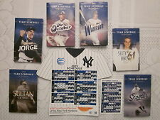 NY YANKEES 2015 MAGNETIC SCHEDULE and COMPLETE 2015 POCKET SCHEDULES WITH BONUS!