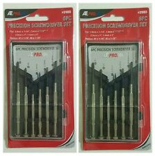 LOT of 1x or 2x Precision Screwdriver Set 6pc Micro Jeweler Watches Repair NEW