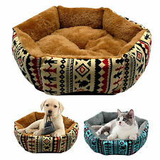 Warm Dog Beds Cotton Fleece Pet Cat Basket Puppy Cushion Blanket Mattress S M L