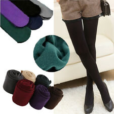 Women Ladies Opaque Plain Warm Thick Cotton Tights Pantyhose Stockings One Size