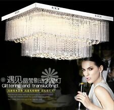 crystal large chandelier LED Ceiling Fixture lustre Curtain pendant lamp light