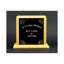 """Custom Pet Cremation Urn with """"In Loving Memory"""" Laser Engraved"""