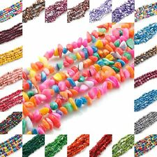 """Natural Shell gemstone loose beads strand Chips For Jewelry Making 15.5""""/31.5"""""""