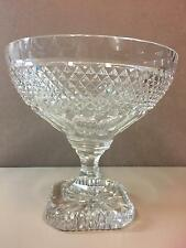Stunning Vintage Cut Glass Crystal Large Footed Centerpiece Bowl / Compote