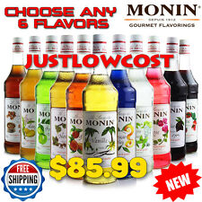 Monin Flavored Syrup Coffee Tea Boba Bubble Smoothie(750mL),CHOOSE ANY 6 BOTTLES