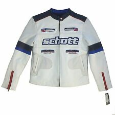 Vintage Rose4 Schott, Racing Woman Leather Motorcycle Jacket Size XL