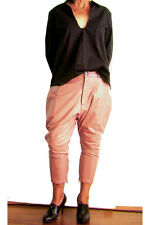 NEW ONE TEASPOON LEATHER PANTS DROP CROTCH 26 S 4 8 $350 WOMEN PINK JEANS