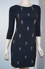 New White House Black Market Women's 3/4 Sleeve Embellished Shift Dress XXS XS S