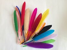 HQ Natural Goose Feather 10/20 PCS 8-10cm/3-4inch DIY Craft Party Decoration UK