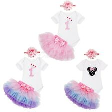 Baby Girls Minnie Romper Tutu Skirt First Birthday Party Dress Clothes Outfits