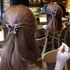 Bling Girl Women Butterfly Crystal Hair Clip Claw Hairpin Clamp Accessories