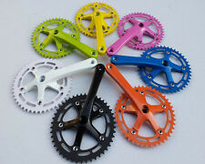 Steel Single Speed Cycling Bike Crankset Chainwheel Bicycle Fit Crank 44T 170mm