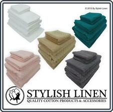 7 Piece Egyptian Cotton Bath Towel Set 14 Piece Towels Sets Hand Face Mat 650GSM