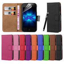 New Wallet Leather Flip Card Case Cover For ZTE Blade 110 + Screen Protector