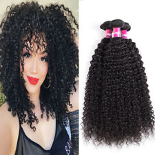 Peruvian Virgin Hair Kinky Curly Human Hair Extension 3 Bundles Natural Black