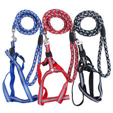 Light Reflective Training Dog Harness Collar with Dog Leads Leash Pet Supplies