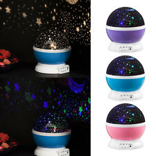 3D LED Starry Night Sky Rotating Projector Lamp Star light Cosmos Master Decor