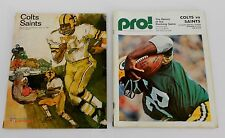 2 BALTIMORE COLTS / NEW ORLEANS SAINTS FOOTBALL PROGRAMS - 1967(1st YEAR) - 1973