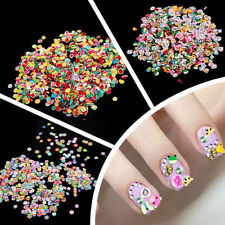1000pcs 3D DIY Nail Art Tips Fimo Decoration Flower Fruit Clay Stickers Cute ma