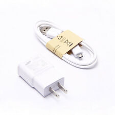 US Plug AC DC +Micro USB Cable Adapter For Samsung Wall Charger Cable