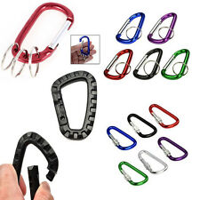 Mini Color Carabiners Camping Spring Clip Hook Keychain Key Ring Hiking Small