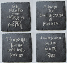 HARRY POTTER COASTERS Slate Engraved Coasters, Harry Potter Quotes