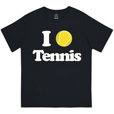 I LOVE TENNIS GIRLS I HEART WIMBLEDON BRITISH SUMMER PRINTED KIDS T-SHIRT