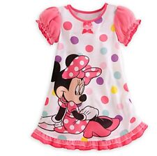 Baby Girls Spring Summer Dress Pyjamas Clothes Minnie Mouse Disney Casual Cute