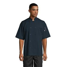 South Beach Short Sleeve Chef Coat Navy Sizes XS-2XL, Uncommon threads 0415