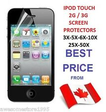 3X 5X 6X 10X 25X IPOD TOUCH 2G 3G 3GS SCREEN PROTECTOR LOT CLEAR FRONT FOR APPLE