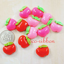 20mm 12pc Sweet Apple Bling Flatback Resin Cabochons- You Choose Color