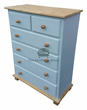 GRANTHAM HANDMADE PAINTED CHEST OF DRAWERS - ASSEMBLED - NO FLATPACK