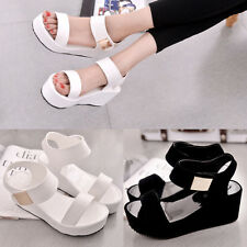 Women Pop Spring Fashion Muffin Thick Bottom Shoe Slope High-heels Sandals Shoes