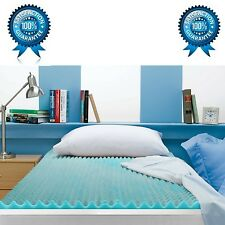 3 Gel Pad Bed Mattress Orthopedic Memory Foam Cover Firm Topper Sleep ALL Size