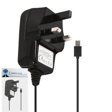 3 Pin 1000 mAh UK MicroUSB Wall Mains Charger for Sony Ericsson Vivaz Pro