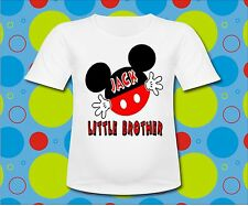 Personalized Mickey Mouse Little Brother T Shirt All sizes and sayings Mickey