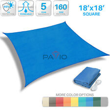 Sun Shade Sail UV Block Outdoor Canopy Patio Lawn Pool Deck Square 18 FT X 18 FT