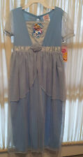 New-Disney-Cinderella-Nightgown-Size-4/5-or-6/6X-Dress-up-Blue-Embroidered-Cameo