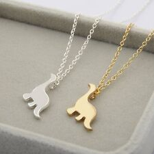 Lovely Animal Unisex Dinosaur Necklace Pendant Long Chain Charm Jewelry For Gift