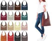 Handbag Bliss! Beautiful Soft Italian Leather Slouch Shoulder Bag Handbag Med Lg