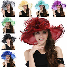Women's Kentucky Derby Hat Church Hat Wedding Organza Dress Hat Tea Party Hat #7