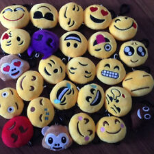 Mini Emoji Smiley Emoticon Soft Stuffed Plush Keychain Toy Key Chain Clip MXT