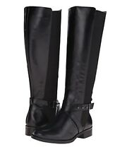STEVEN by Steven Madden WIDE CALF Black Leather Riding boots BEAUTIFUL!  NIB!! 8